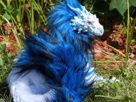 Posable Oriental Ice Dragon Art Doll by DLChart