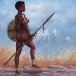 African Warrior 2 by FransMensinkArtist