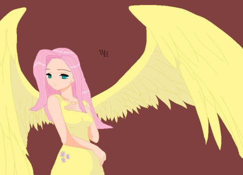 angel fluttershy by Makita-95