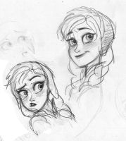 Anna from Frozen Sketch by zPePhungz