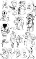 Off, .flow and Yume Nikki Sketches by ZaraLT