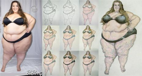 Bigcutie BoBerry Artist's Reference Drawing steps by ENT2PRI9SE