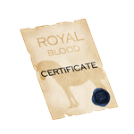 The Royal Blood Certificate by ZeraaFoundation