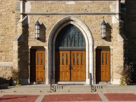 Wooden Church Doors by FantasyStock