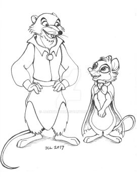 Justin and Mrs. Brisby by JackOrJohn