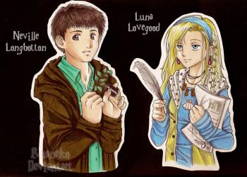 _Neville and Luna_ by Rusneko