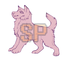 {P2U} 10pt Stream Pup Lineart by SilverPocky