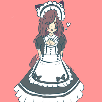 Meiji the kitsune maid by toypup