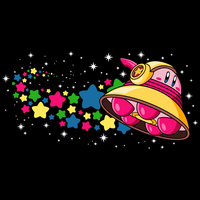 Kirby In Outer Space (T-Shirt Available Now) by ronniearaya1