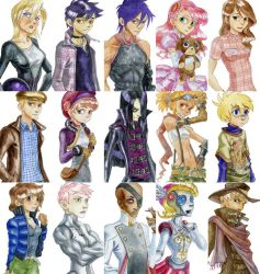 Watercolor characters art by SolarSystemInc