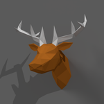 Deer-low poly by Trainl