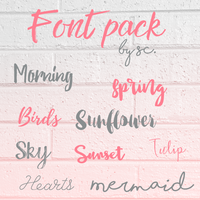 Font pack 5 by SC by BellLeg