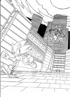 Shadow VS Sonic by dreamcastzx