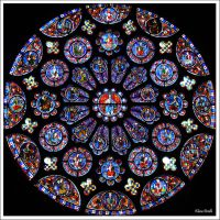 Stained glass of Chartres Cathedral by KlaraDrielle