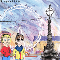 Keira and Maddy at the London Eye by Rapper1996
