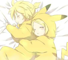 Rin And Len Pikachu by LisiLoveEmo
