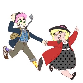 50s Vagabond Couple on the Run by JitterbugJive