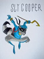 Sly Cooper Colored by bornahorse