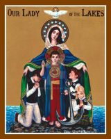 Our Lady of the Lakes icon by Theophilia