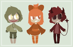 :: Halloween Adopts - Closed :: by PastelButtAdopts