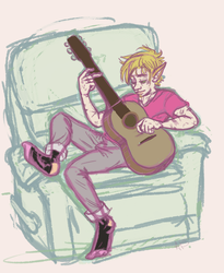 V with Guitar by hareteeth