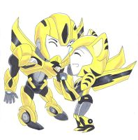 Moonrunner x Bumblebee request by japanindisguise
