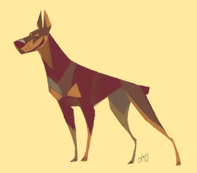 Doberman by Canvascope