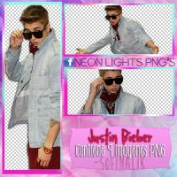 JB en Jingle Bells - NeonLightsPNG'S by SoffMalik