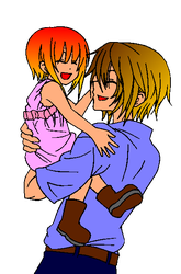 RE: Young Angel Being Held By Her Father Leon by Angel-of-Love