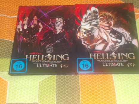 German dvd edition of Hellsing Ultimate 9 and 10 by gekkodimoria