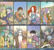 Reverie Garden character arts altogether :) by Anthrokim