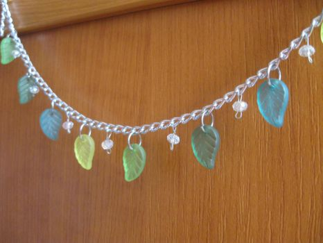 Fresh leaves leg bracelet by MaryBlick