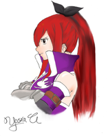 Erza Scarlet by ZAPPLEdraws
