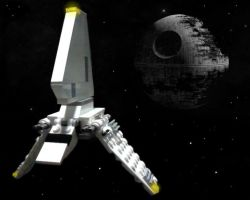 Imperial Shuttle - Space by Anonyme003