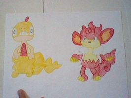 Scraggy and Simisear