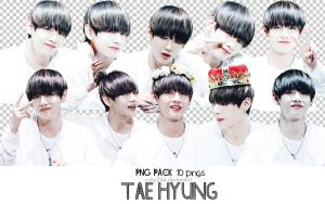 PNG PACK TAE HYUNG-BTS by Ruby244