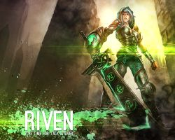 Riven League of legends by mex8