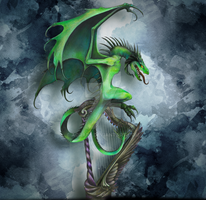 Green_Wyvern by AoraPL