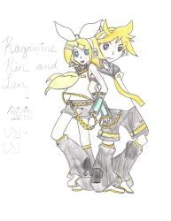 Rin and Len (3) Redraw by Miku by Lily-the-Vocaloid