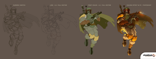 Step by Step Boba Fett by MabaProduct