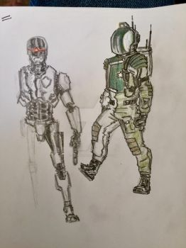 Robocop and the Crescent (astronaut) by skorpione10
