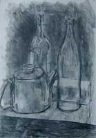 Kettle and glass bottles by Pumpkin-Pasty