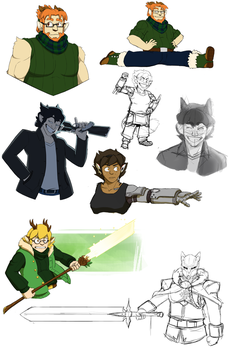 Sketchdump (July 31) by FastAndDelicious