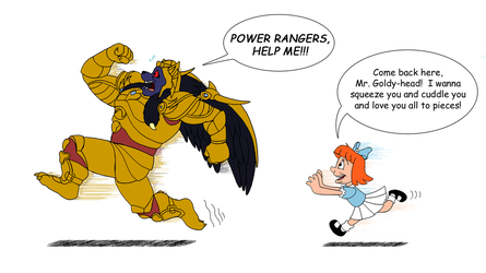 Goldar and Elmyra Duff by RetroUniverseArt
