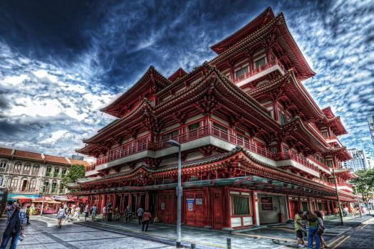 Buddha Tooth Relic Temple by linkahwai