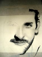 Bradley Cooper WIP 01 by th3blackhalo