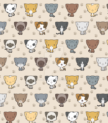 Cute Cat Pattern by Otakatt