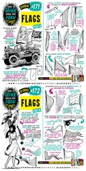 How to draw FLAGS tutorial by STUDIOBLINKTWICE
