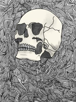 skull in abstract v2 by luisdv19