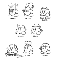 Kirby ability set 3 by JonCausith